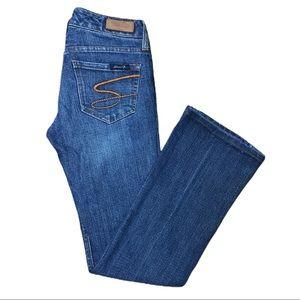 Seven7 Flare Jeans Blue Tag 25 x 29 inseam Stretch